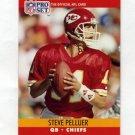 1990 Pro Set Football #533 Steve Pelluer - Kansas City Chiefs