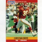 1990 Pro Set Football #532 Christian Okoye - Kansas City Chiefs