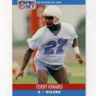 1990 Pro Set Football #513 Terry Kinard - Houston Oilers