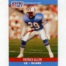 1990 Pro Set Football #508 Patrick Allen - Houston Oilers
