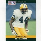 1990 Pro Set Football #500 Jerry Holmes - Green Bay Packers