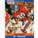 1990 Pro Set Football #490 Steve Sewell - Denver Broncos