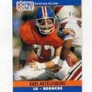 1990 Pro Set Football #489 Karl Mecklenburg - Denver Broncos