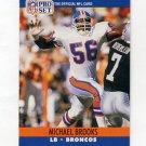 1990 Pro Set Football #485 Michael Brooks RC - Denver Broncos