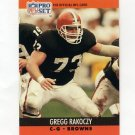 1990 Pro Set Football #476 Gregg Rakoczy RC - Cleveland Browns