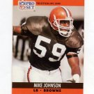 1990 Pro Set Football #472 Mike Johnson - Cleveland Browns