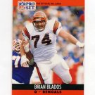 1990 Pro Set Football #468 Brian Blados - Cincinnati Bengals