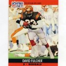1990 Pro Set Football #462 David Fulcher - Cincinnati Bengals