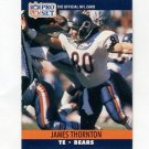 1990 Pro Set Football #457 James Thornton - Chicago Bears