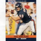1990 Pro Set Football #446 Trace Armstrong - Chicago Bears