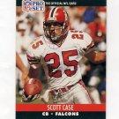 1990 Pro Set Football #427 Scott Case - Atlanta Falcons
