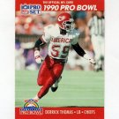 1990 Pro Set Football #373 Derrick Thomas - Kansas City Chiefs