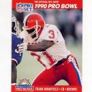 1990 Pro Set Football #357 Frank Minnifield - Cleveland Browns