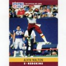 1990 Pro Set Football #332 Alvin Walton - Washington Redskins