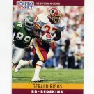 1990 Pro Set Football #329 Gerald Riggs - Washington Redskins