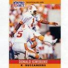 1990 Pro Set Football #313 Donald Igwebuike - Tampa Bay Buccaneers