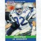 1990 Pro Set Football #307 David Wyman - Seattle Seahawks