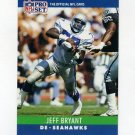 1990 Pro Set Football #300 Jeff Bryant - Seattle Seahawks