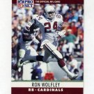 1990 Pro Set Football #264 Ron Wolfley - Phoenix Cardinals