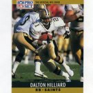 1990 Pro Set Football #213 Dalton Hilliard - New Orleans Saints