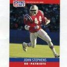 1990 Pro Set Football #207 John Stephens - New England Patriots
