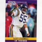 1990 Pro Set Football #195 Scott Studwell - Minnesota Vikings