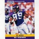 1990 Pro Set Football #194 Al Noga - Minnesota Vikings