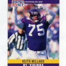 1990 Pro Set Football #193 Keith Millard - Minnesota Vikings