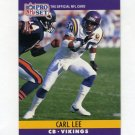 1990 Pro Set Football #190 Carl Lee - Minnesota Vikings