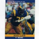 1990 Pro Set Football #173 Jackie Slater - Los Angeles Rams
