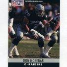 1990 Pro Set Football #156 Don Mosebar - Los Angeles Raiders