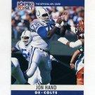 1990 Pro Set Football #132 John Hand - Indianapolis Colts