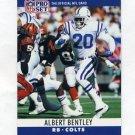 1990 Pro Set Football #128 Albert Bentley - Indianapolis Colts