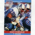 1990 Pro Set Football #124 Dean Steinkuhler - Houston Oilers