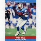 1990 Pro Set Football #122 Drew Hill - Houston Oilers