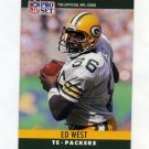 1990 Pro Set Football #115 Ed West RC - Green Bay Packers