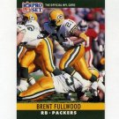 1990 Pro Set Football #107 Brent Fullwood - Green Bay Packers