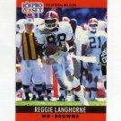 1990 Pro Set Football #073 Reggie Langhorne - Cleveland Browns