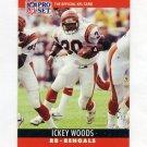 1990 Pro Set Football #066 Ickey Woods - Cincinnati Bengals