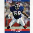 1990 Pro Set Football #047 Darryl Talley - Buffalo Bills