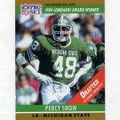 1990 Pro Set Football #021B Percy Snow - Kansas City Chiefs