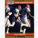 1990 Pro Set Football #017 Felix Wright - Cleveland Browns