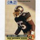 1991 Pro Set Football WLAF Inserts #32 Greg Gilbert - San Antonio Riders