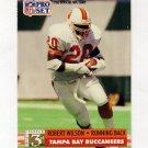 1991 Pro Set Football #809 Robert Wilson RC - Tampa Bay Buccaneers