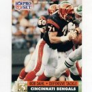 1991 Pro Set Football #801 Bob Dahl - Cincinnati Bengals