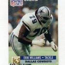 1991 Pro Set Football #799 Erik Williams RC - Dallas Cowboys
