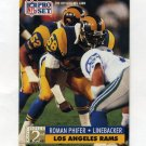 1991 Pro Set Football #760 Roman Phifer RC - Los Angeles Rams