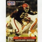 1991 Pro Set Football #758 Ed King RC - Cleveland Browns