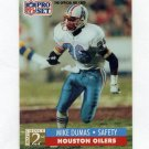 1991 Pro Set Football #757 Mike Dumas RC - Houston Oilers