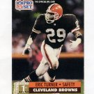 1991 Pro Set Football #731 Eric Turner RC - Cleveland Browns